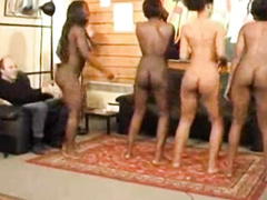 Naked African girls dancing for the rich man