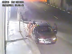 Naughtiest couple has sex on the street